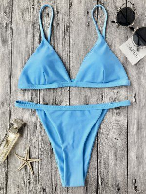 6837cc4237a0 Impreso trenzado de correas espaguetis Set Bikini en 2019 | Bk niñas ...