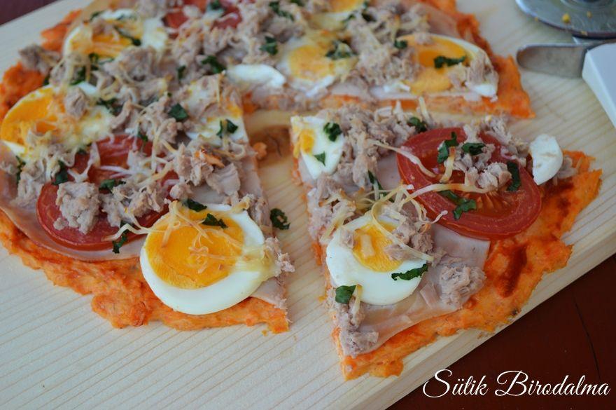 Édesburgonyás pizza - Ételreceptek, Ételek, Reggeli
