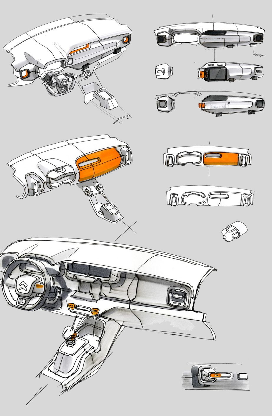 Gashetka Transportation Design Car Interior Sketches Pinterest