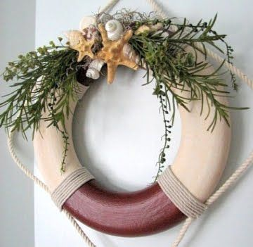 christmas wreath beachy for all you people living near the beach love it - Beach Christmas Wreath