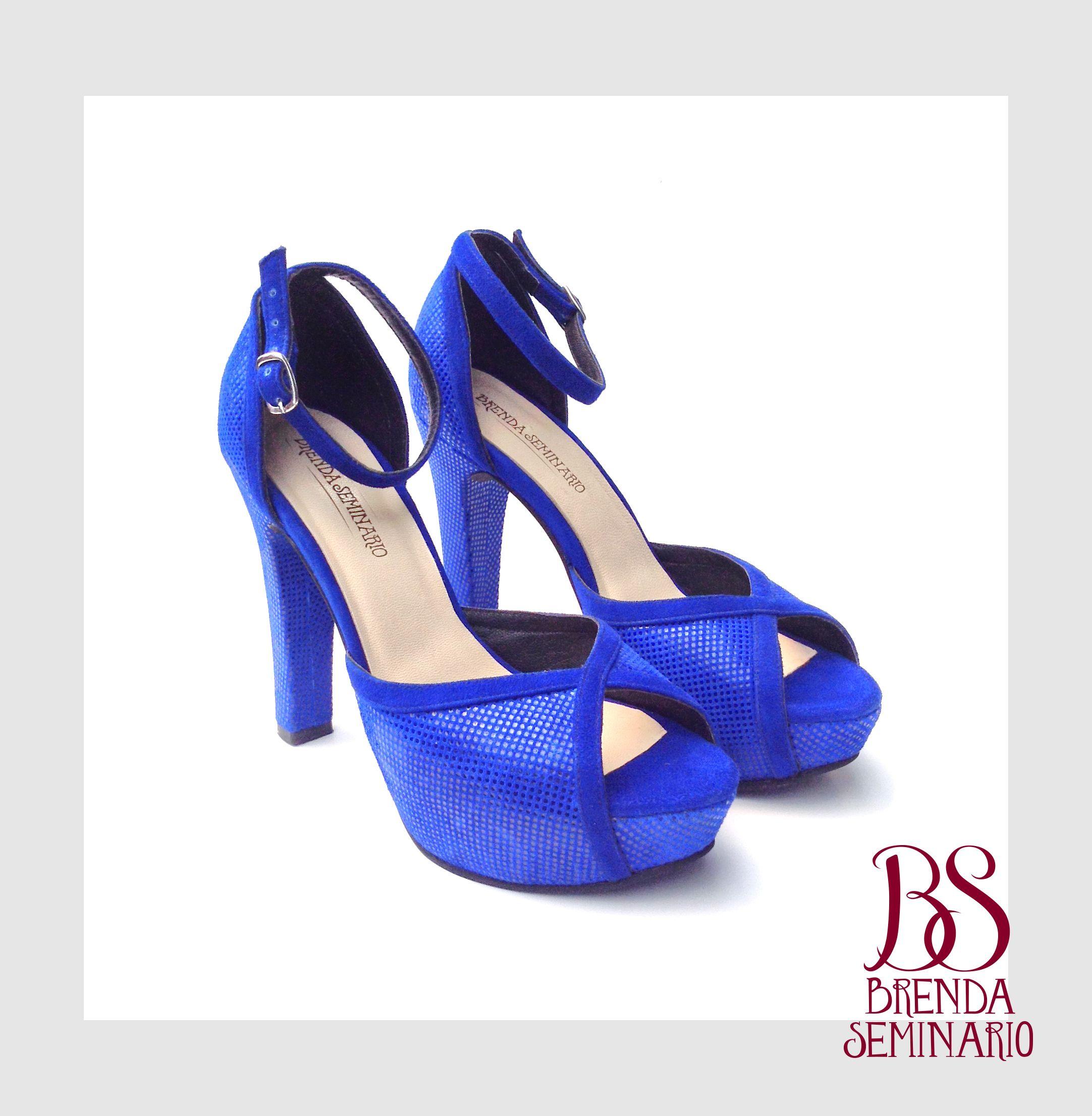 Modelo: Manhattan, gamuza azulino, alto 12cm plataforma 3cm, BS BRENDA SEMINARIO SAC