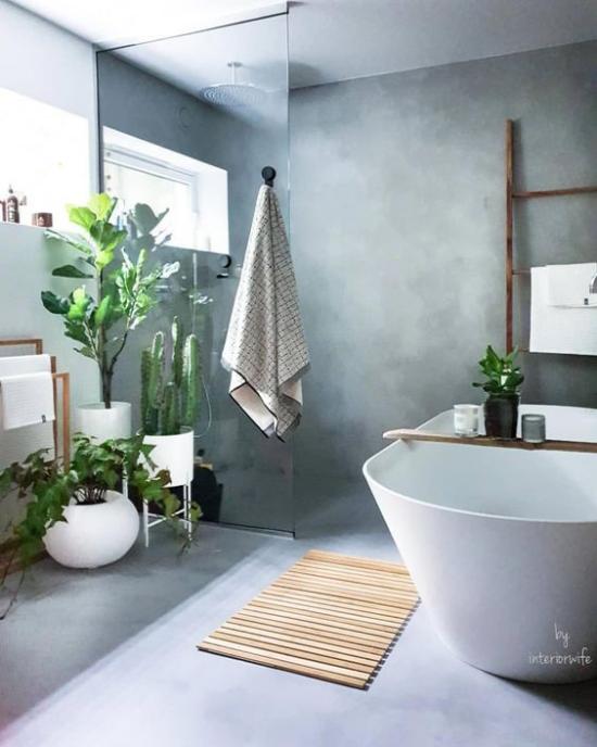Viel Grün im Bad – Badpflanzen bringen tropisches Flair mit – Fresh Ideen für das Interieur, Dekoration und Landschaft
