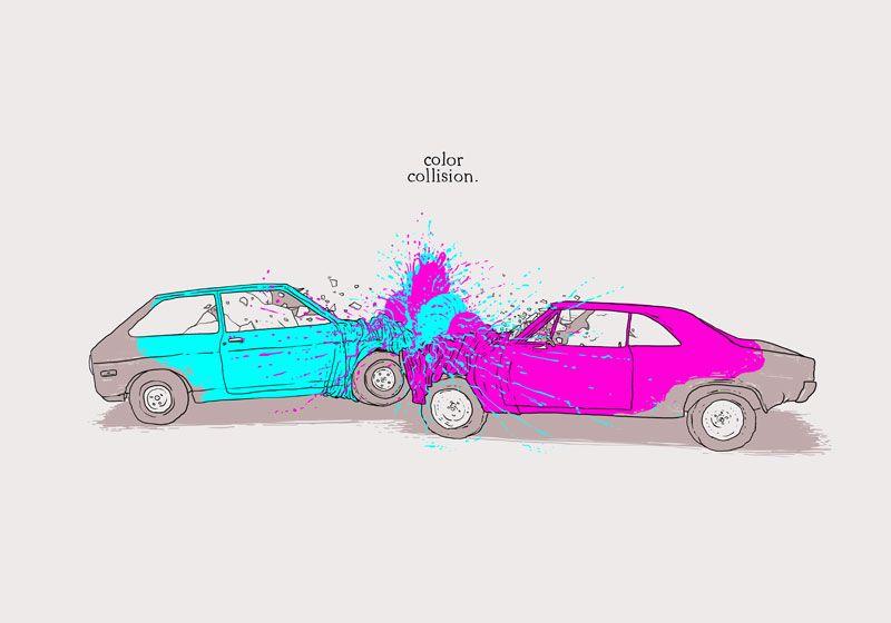 Color Collision  Illustration by Henrique Lima