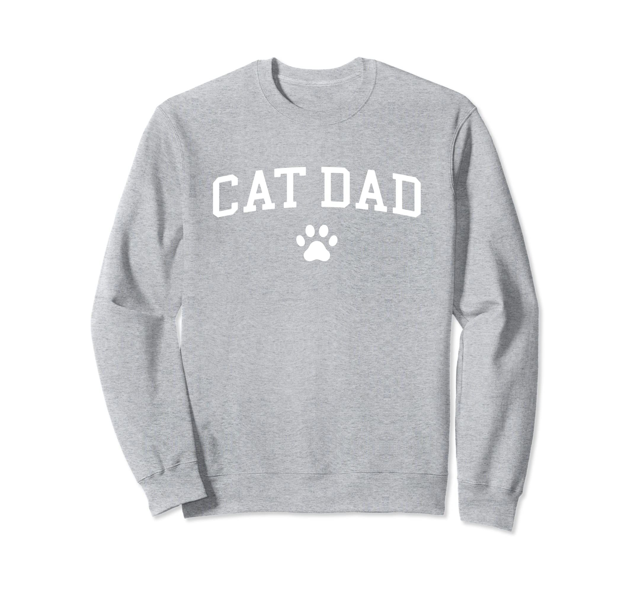 Awesome Cat Dad Sweatshirt For Cat Lovers-Teehay