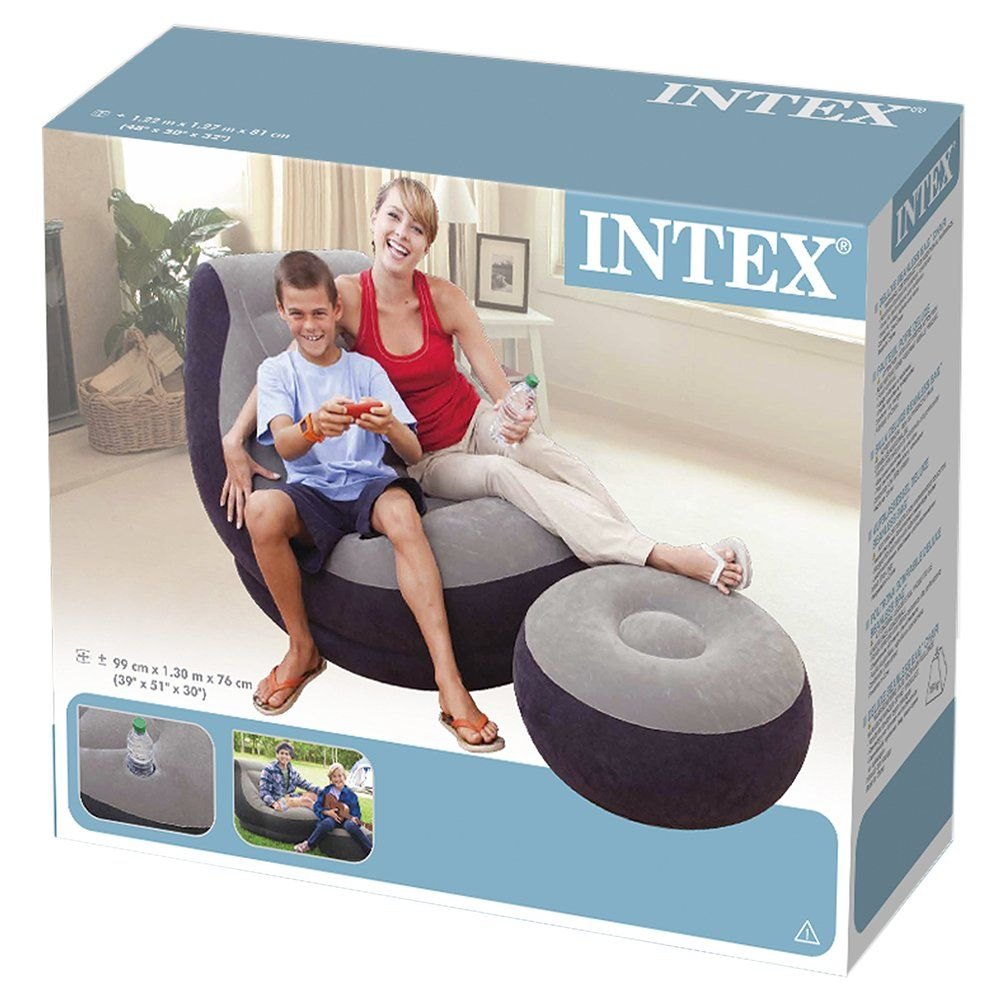 intex ultra lounge chair and ottoman covers costs game room chairs amazon com inflatable with sports outdoors
