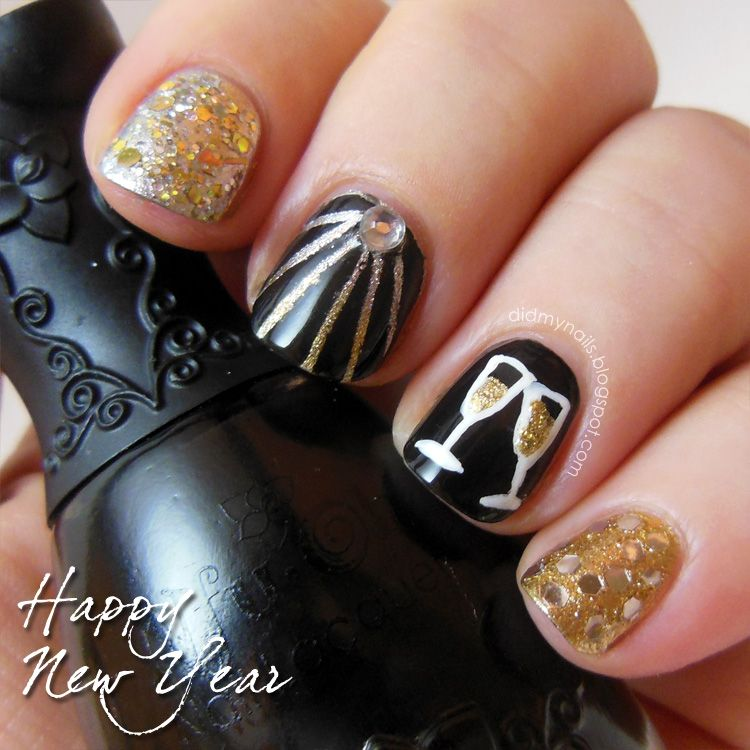 New years eve nails its a girly thing pinterest nail nail new years eve nails prinsesfo Image collections