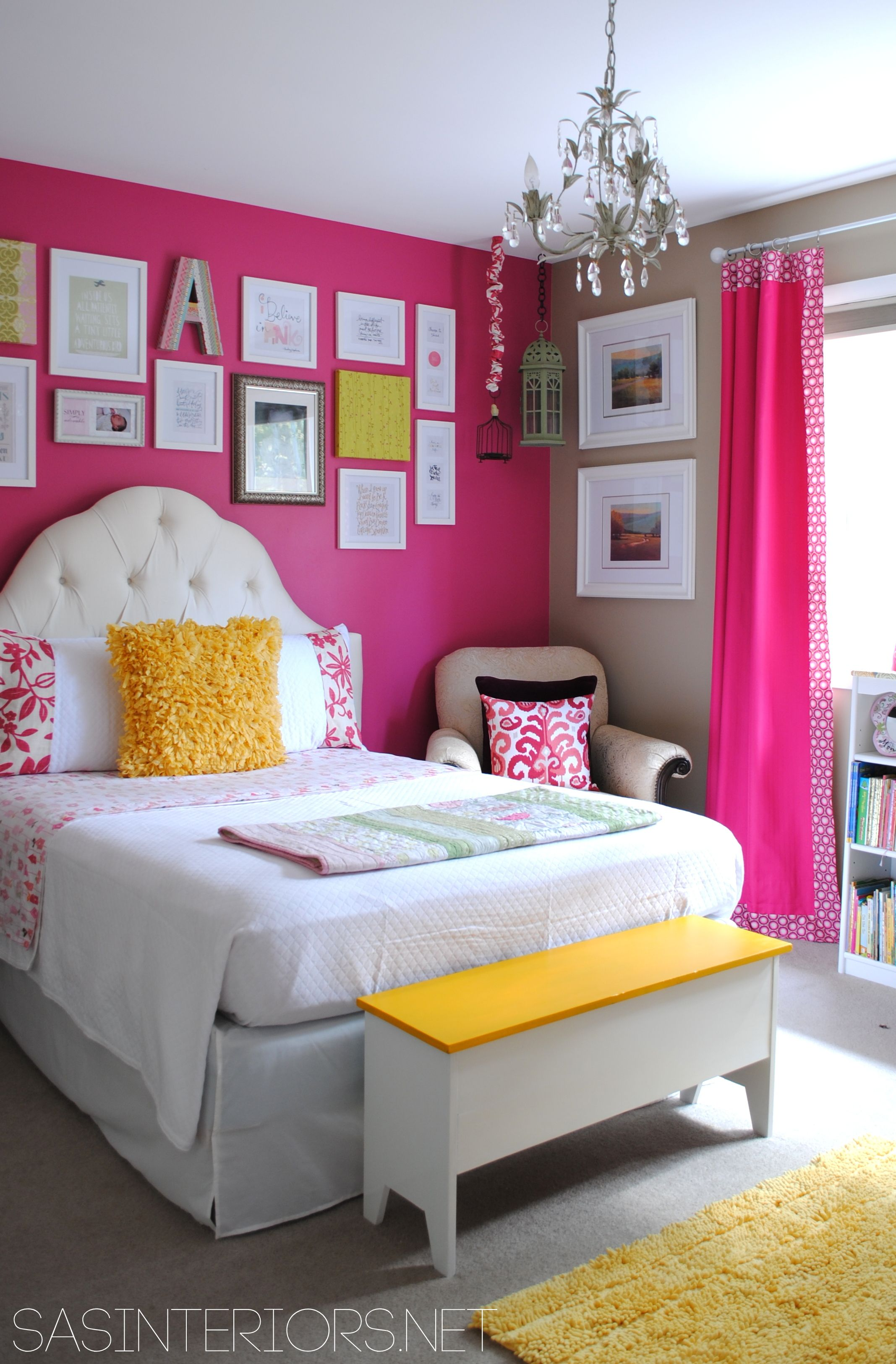 Attrayant Girls Room: Benjamin Moore Royal Fuchsia And Lenox Tan