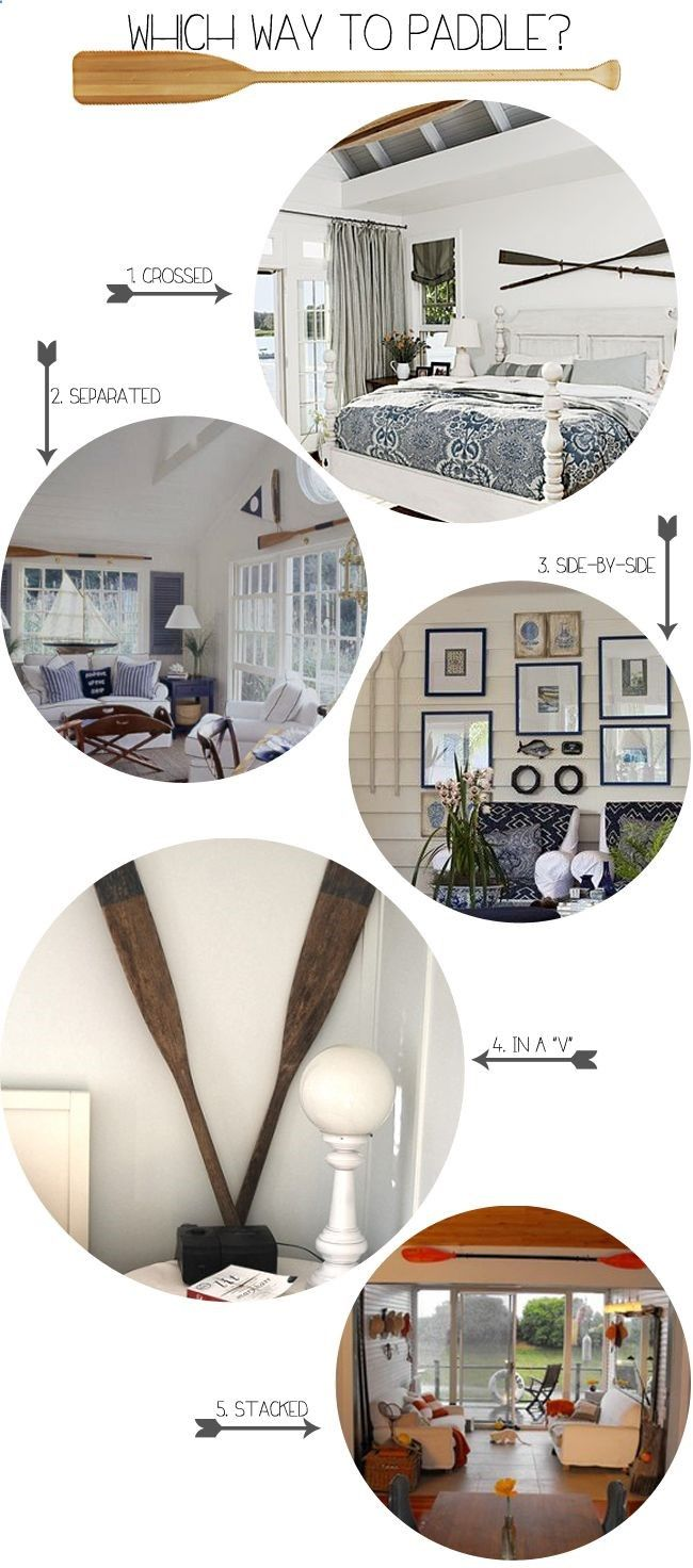 Home Inspiration :: Oars On Walls #Decor #DecorIdeas