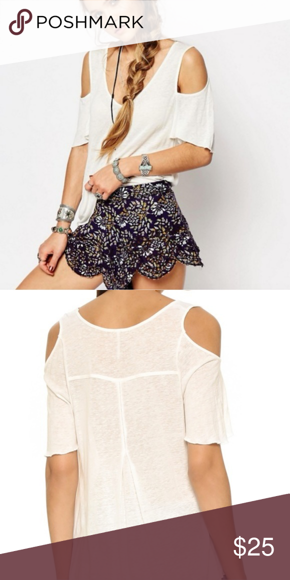 0bb3e9fe50d FREE PEOPLE Bittersweet Cold Shoulder Ivory Top M Free People New With Tag Bittersweet  Cold Shoulder