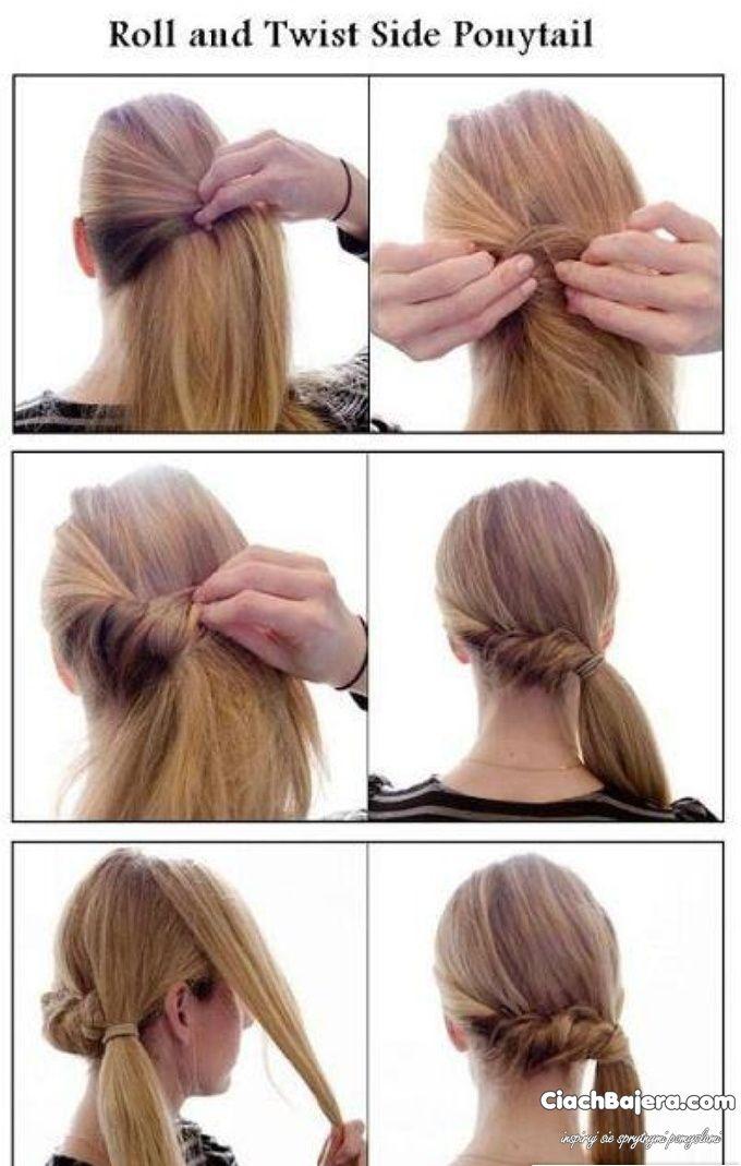 Pomysl Na Zawijany Kucyk Side Ponytail Hairstyles Side Ponytail Hairstyles Tutorial Ponytail Hairstyles Tutorial
