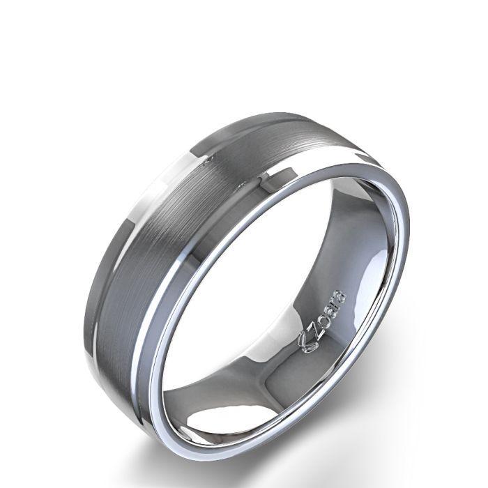 Satin Finish Men\'s Wedding Ring in Palladium   Wedding   Pinterest ...