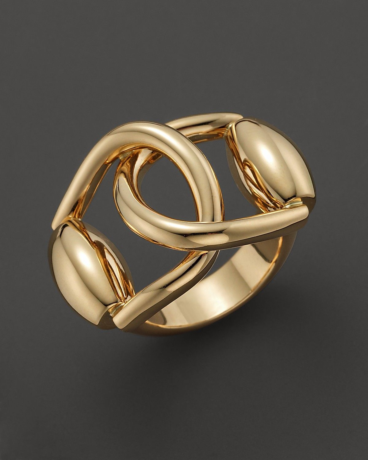 6b7c304eee Gucci 18k yellow gold horsebit double ring | equestrian in 2019 ...
