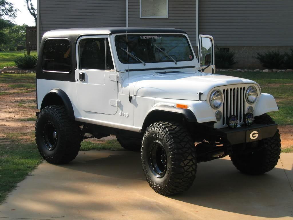 Custom white jeep cj7