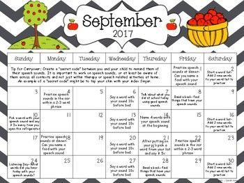 Articulation Monthly Homework Calendar August  July