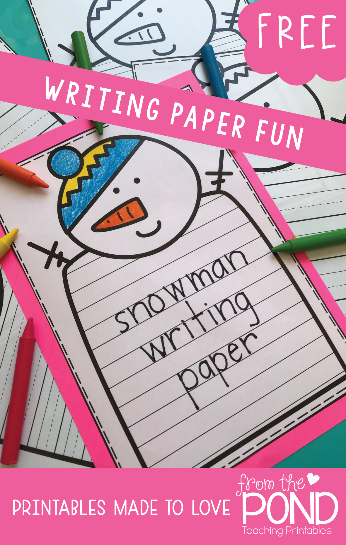 Snowman Writing Worksheet