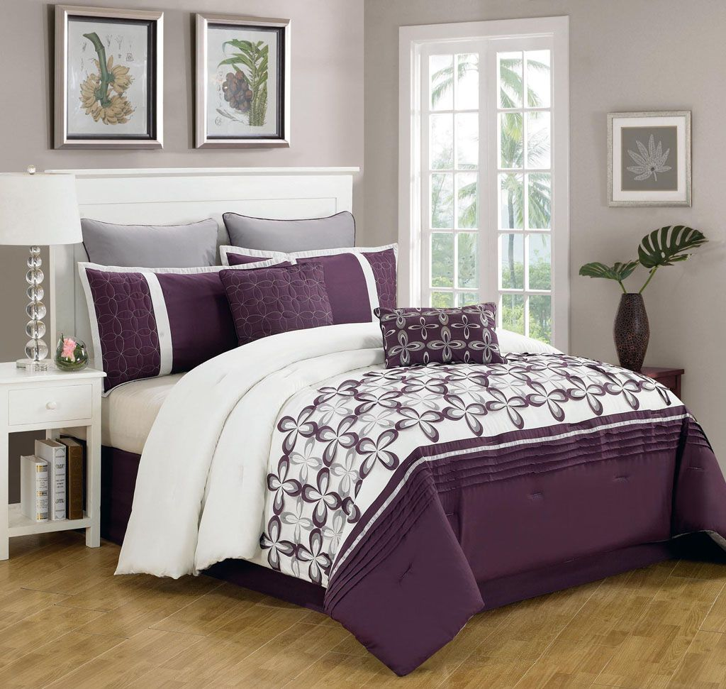purple front mizone photo set free riley comforter shipping queen full sets