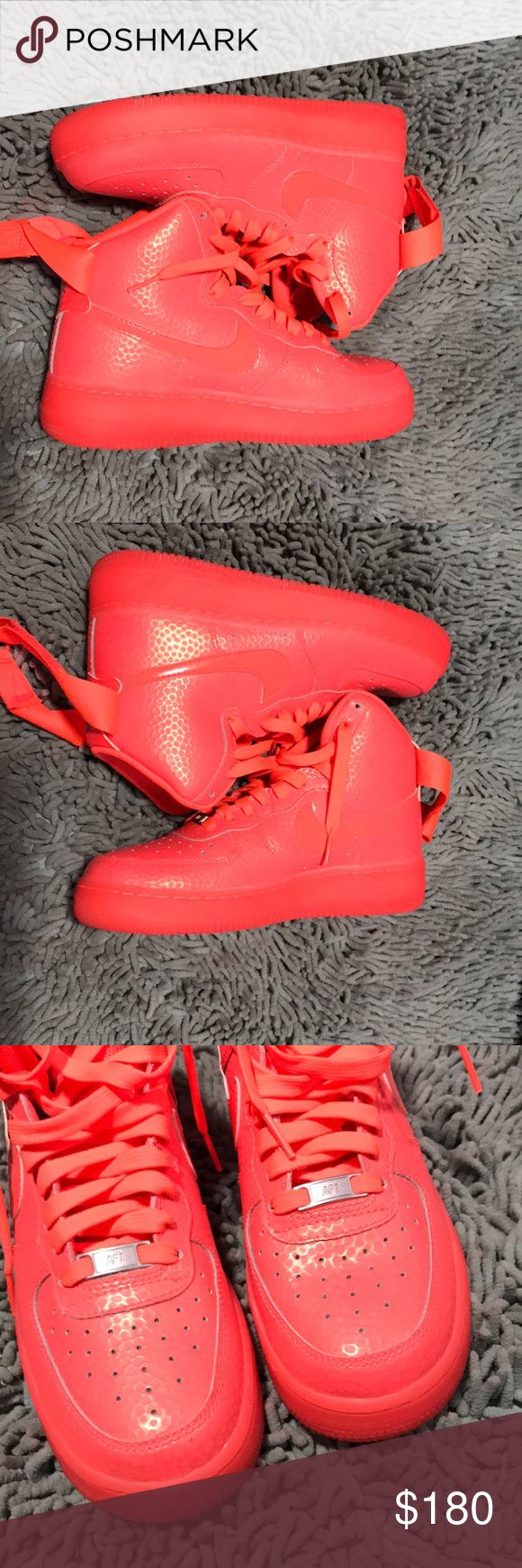 Unique Neon Air Force 1s Forces Unlike Any Youve Seen Pink Orange Color Only Wore Once In Great Used Condition True To Size Feel Free Ask