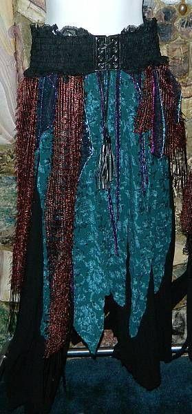 medieval tribal gypsy clothing | Rag Skirt Dress Renaissance Vampire Witch Peasant Medieval SCA Fantasy ...