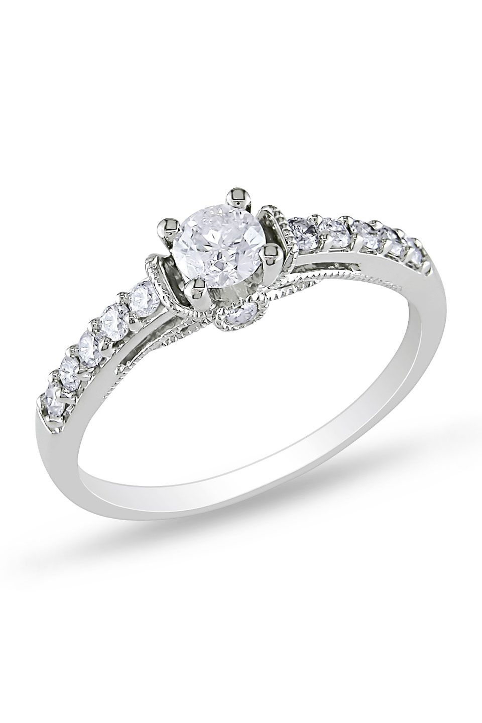 6ct Diamond Ring In 10k White Gold Engagement Ring Prices White Gold Engagement Rings Engagement Rings
