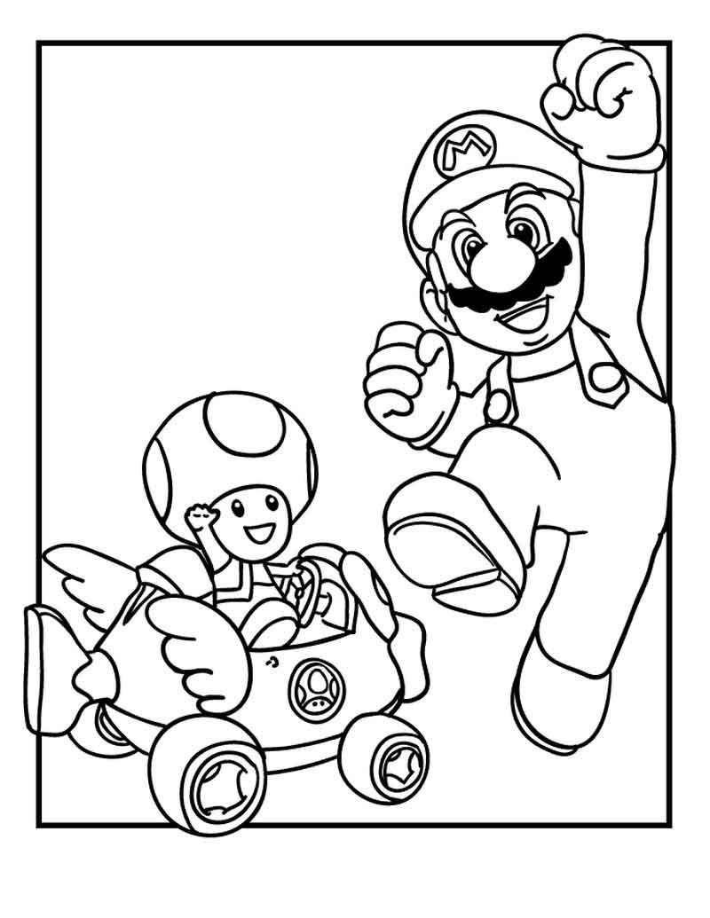 Victorious Mario Super Mario Coloring Pages Kleurboek Mario Verjaardagsfeestje Kleurplaten