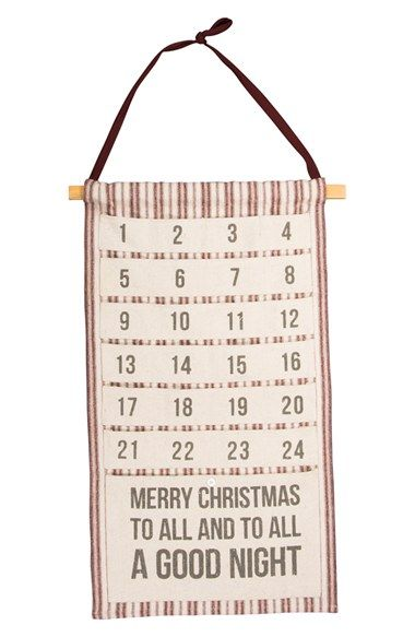 Primitives by Kathy 'Merry Christmas to All' Hanging Canvas Advent Calendar available at #Nordstrom