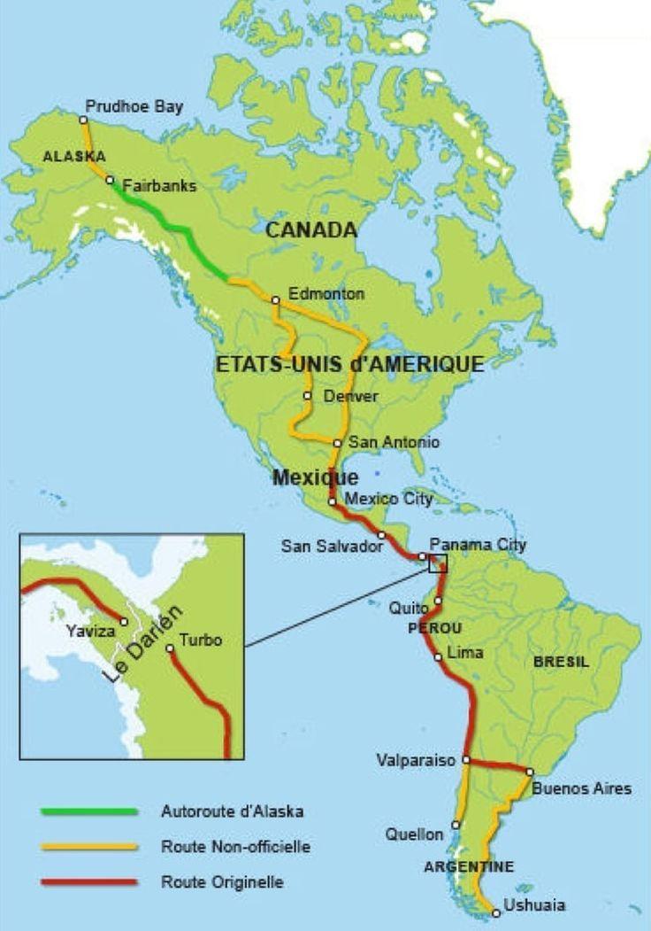 Carte Route Amerique.Route Panamericaine Lilo Route Panamericaine San