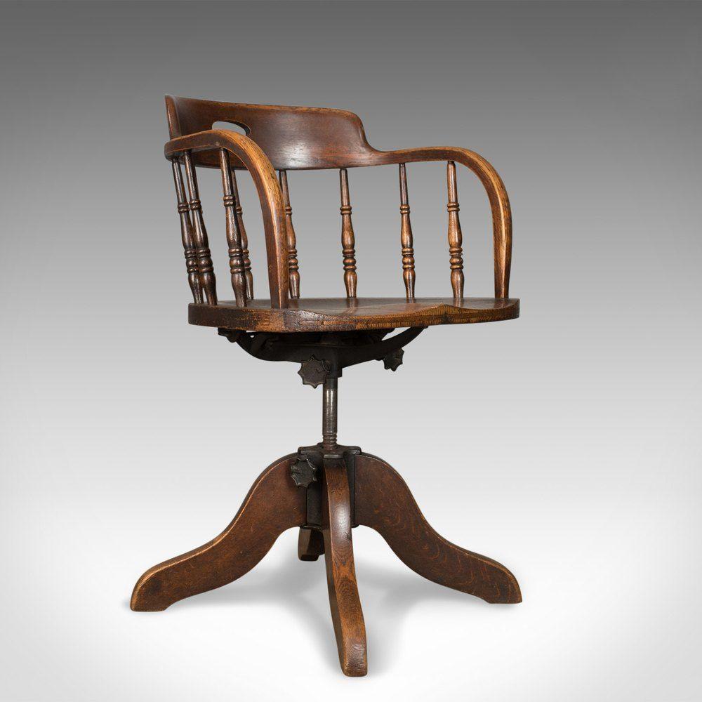Magnificent Antique Desk Chair Victorian Captains Armchair Antiques Download Free Architecture Designs Grimeyleaguecom