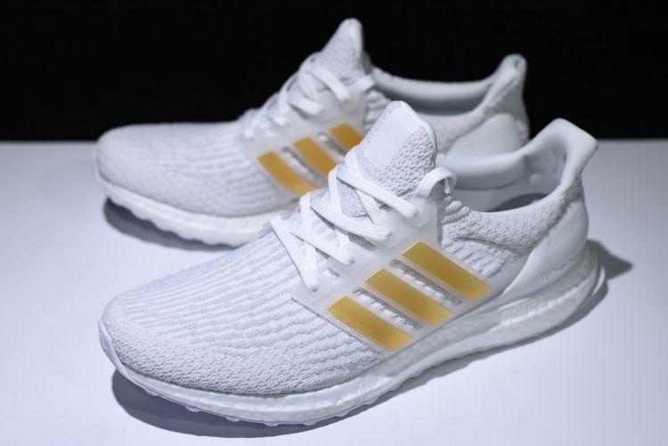 f6a8ed70c3960 New adidas Ultra Boost 3.0 White Gold BA7680 For Sale