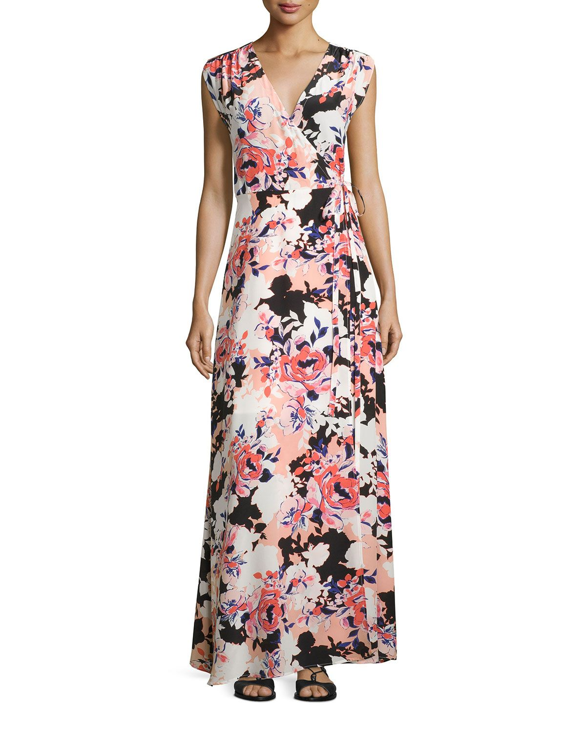 Womens Rose Satin Floral Sleeveless Dress Yumi Sale Looking For 4YuleA