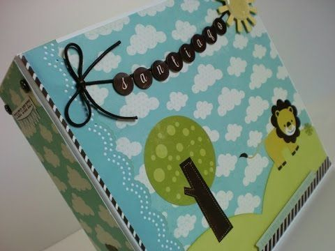 album do santiago mini album para bebé scrapbooking baby boy