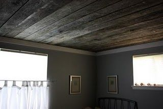 I really want to put reclaimed barn board on the ceiling of our living room...how can I make this happen?