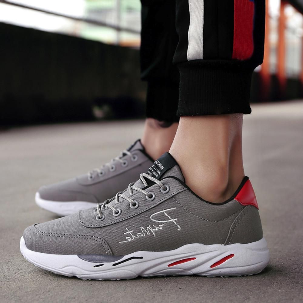 46fdab24c4b5 Men s Casual Sport Shoes Spring Travel Shoes Breathable Lace-up Sneakers  Feature  Gender  Men Material Canvas Sole Material PVC Style  Fashion