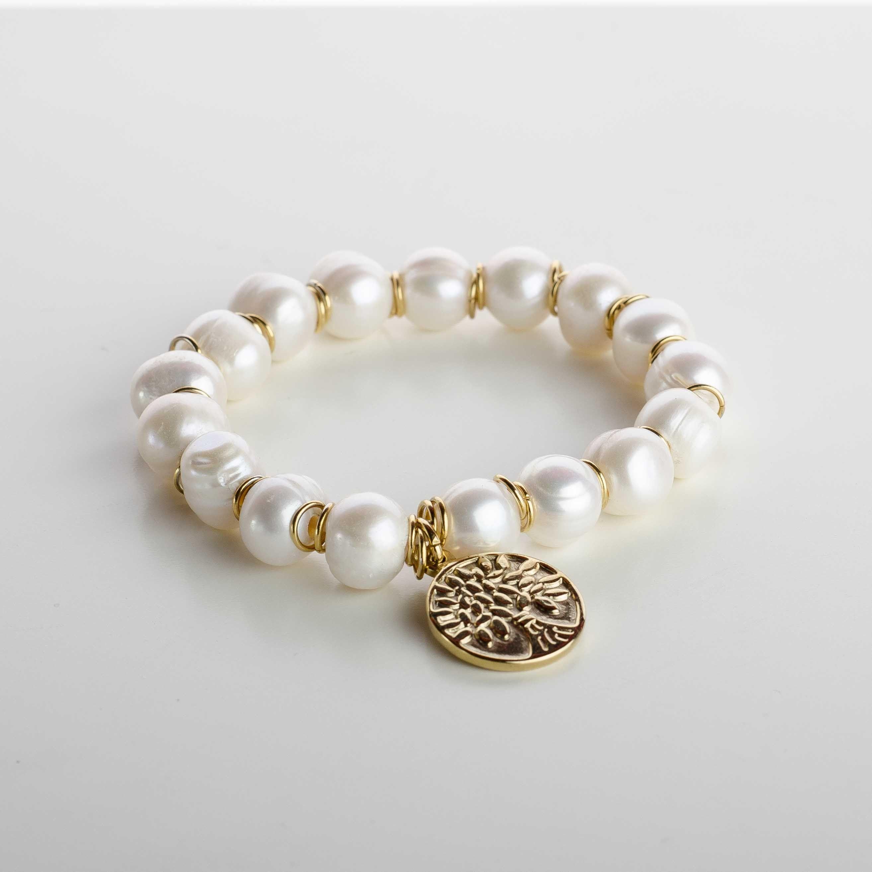 c2791bcc576a Pulsera perlas cultivadas y medalla árbol de la vida
