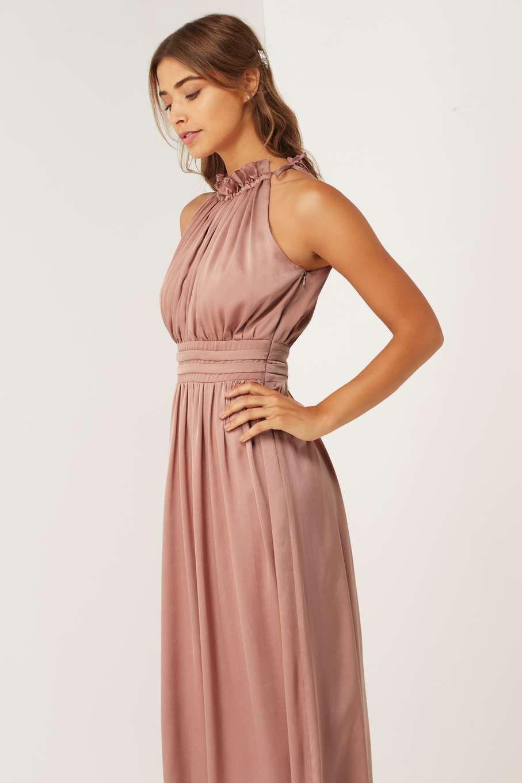 Little mistress rose gold maxi dress