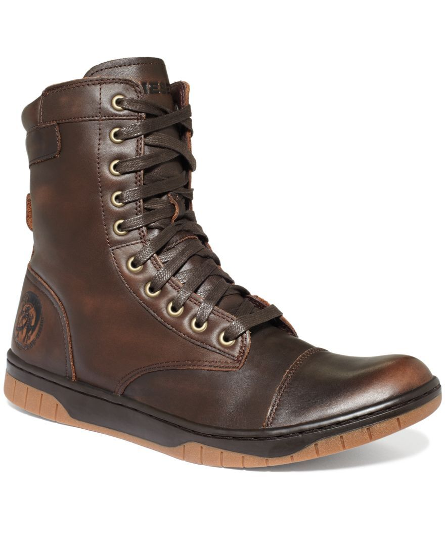 dd8bd10dddc Diesel Tatradium Basket Butch Zip Boots - All Men's Shoes - Men ...