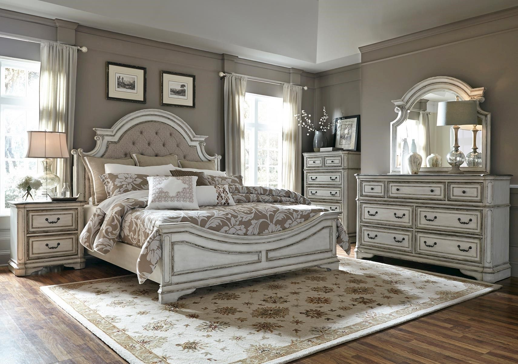 Lacks Magnolia Manor 4 Pc Queen Bedroom Set Bedroom Furniture