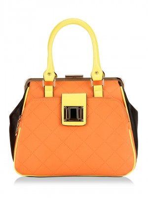 Ladida Hand Bag With Metallic Purse Frame By Koovs