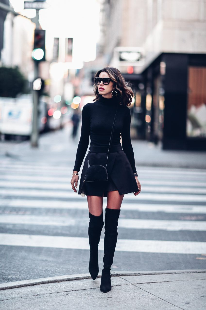 All black ensemble | Winter Chic style.