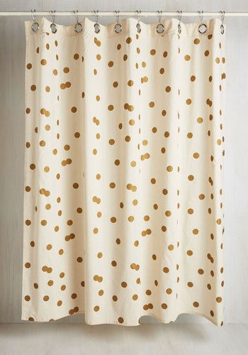 Pizzazz Good as Gold Shower Curtain | Gold shower curtain, Bath and ...