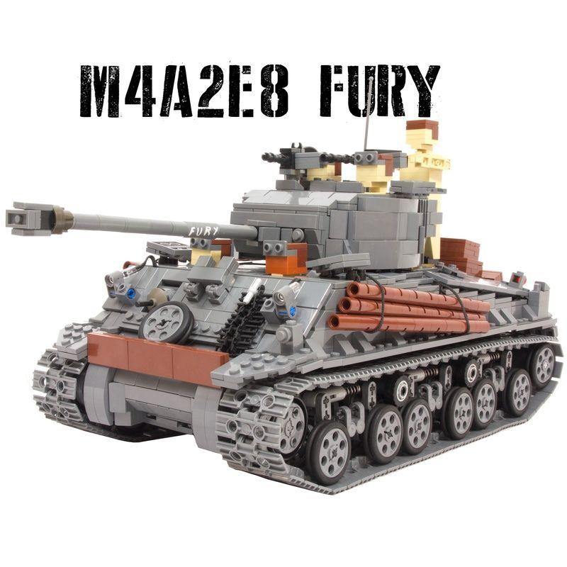 Lego Moc Moc 6562 M4a2e8 Fury Sherman Tank Building Instructions