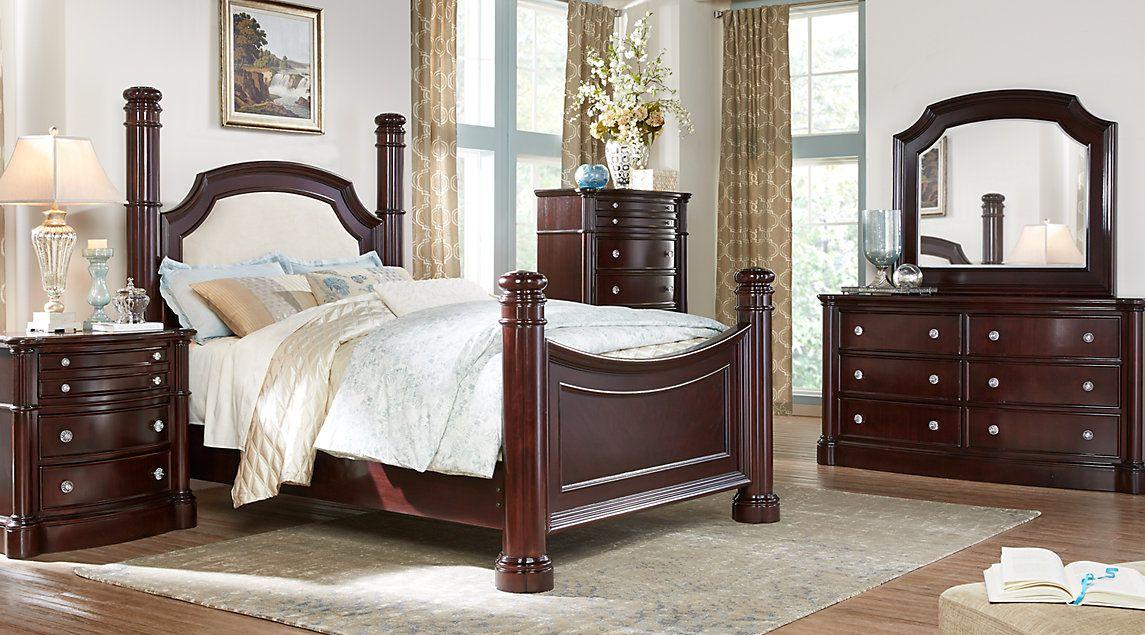 Dark Wood King Bedroom Sets Cherry Espresso Mahogany Brown