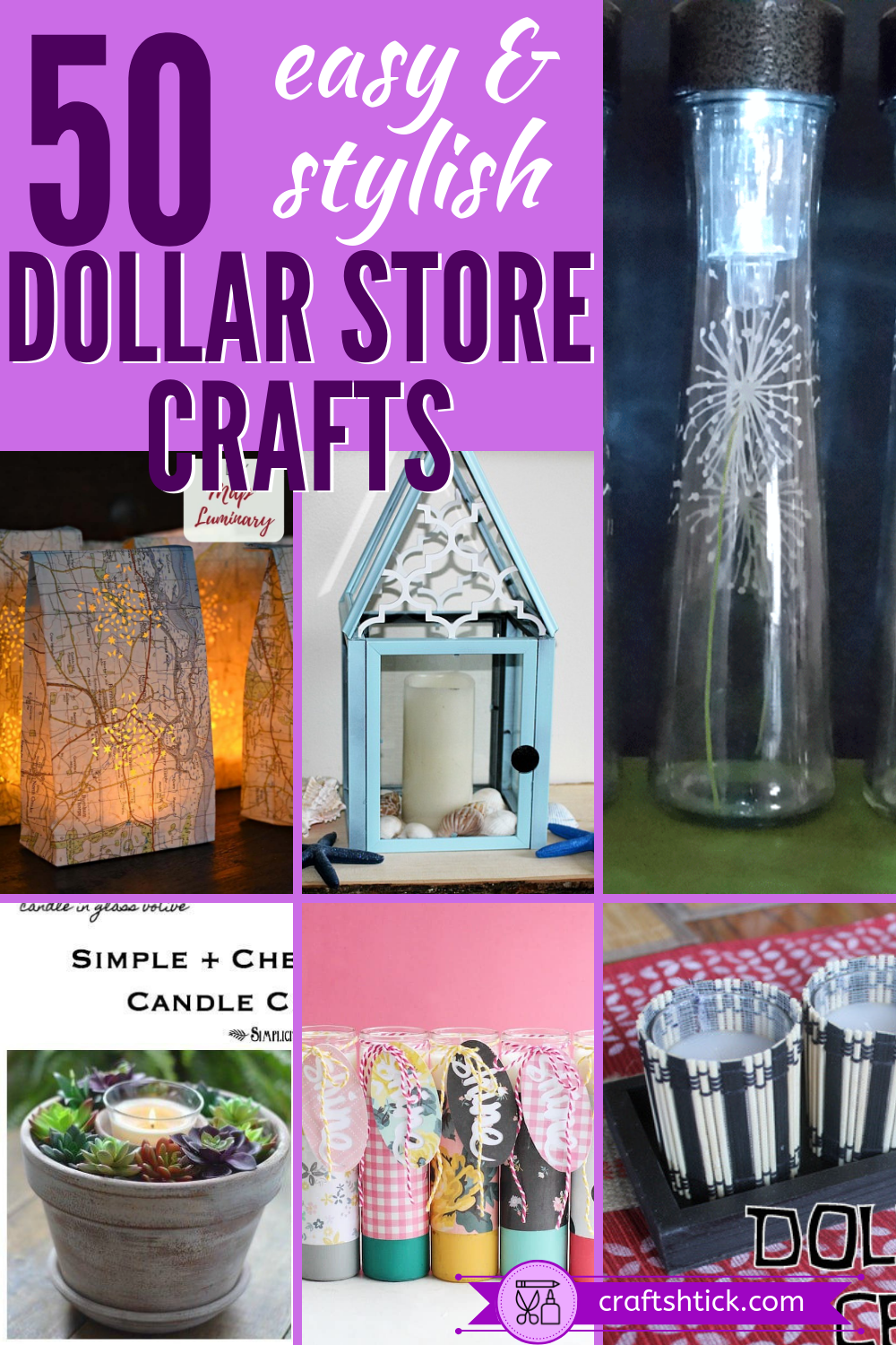 Dollar Tree Crafts And DIY Projects • Craft Shtick -   16 diy projects Dollar Store kids ideas