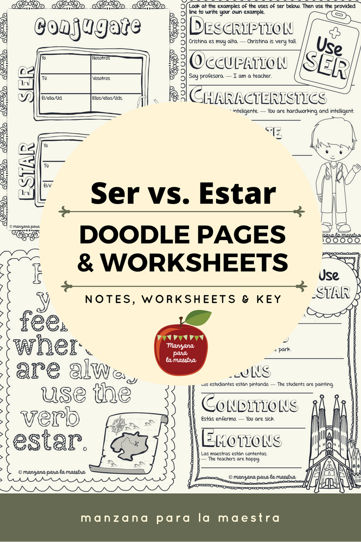Engage Your Students With These Ser Vs Estar Doodle Notes The Notes Include The Mnemonics Doctor And Pla Learning Spanish Spanish Grammar High School Spanish [ 1102 x 735 Pixel ]