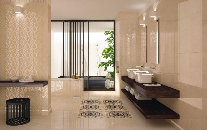 Badezimmerfliesen im Blickfang \u2013 100 Ideen für Designs und Muster - muster badezimmer fliesen