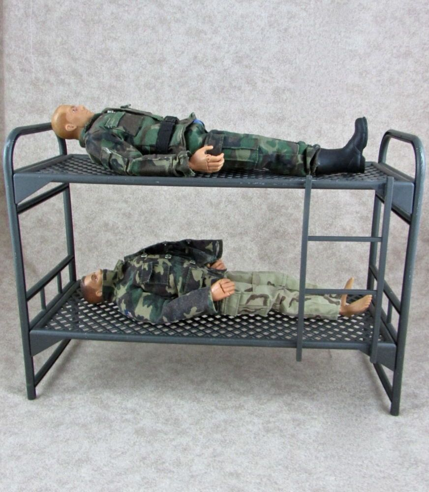 Large G I Joe Military Bunk Bed For 12 Action Figure Gijoe
