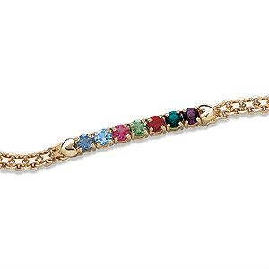 Sapphire or any birthstone bracelet and names personalization strands Custom designyour own mother grandma jewelry