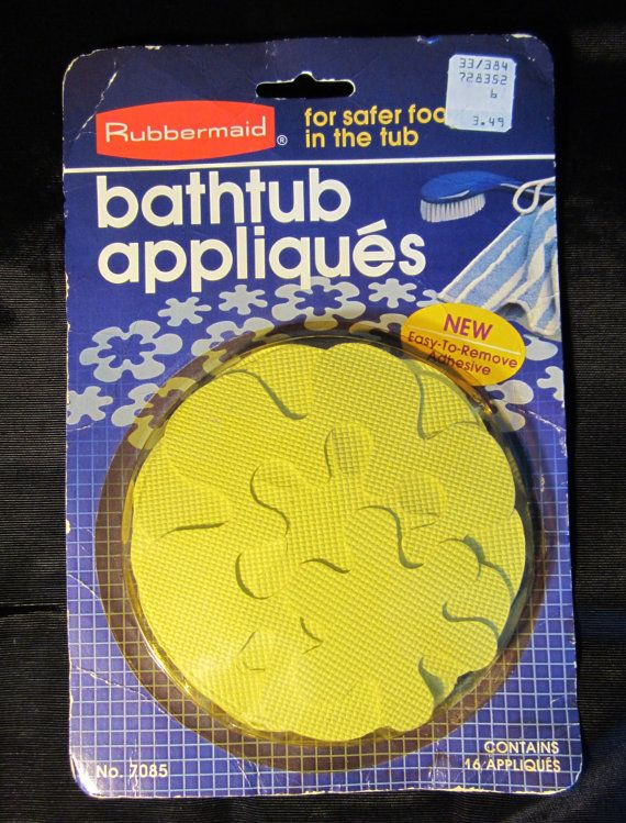 Vintage Rubbermaid Bathtub Appliques Flower Power Yellow New In Package