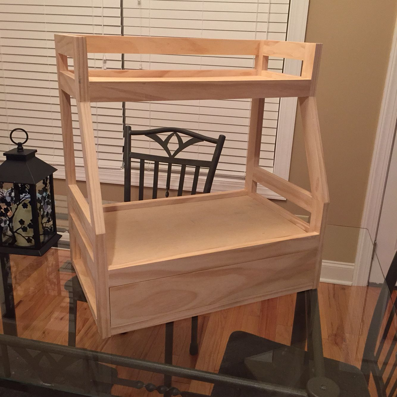 American Girl Doll Bunk Bed W/ Trundle Bed Custom Home Made