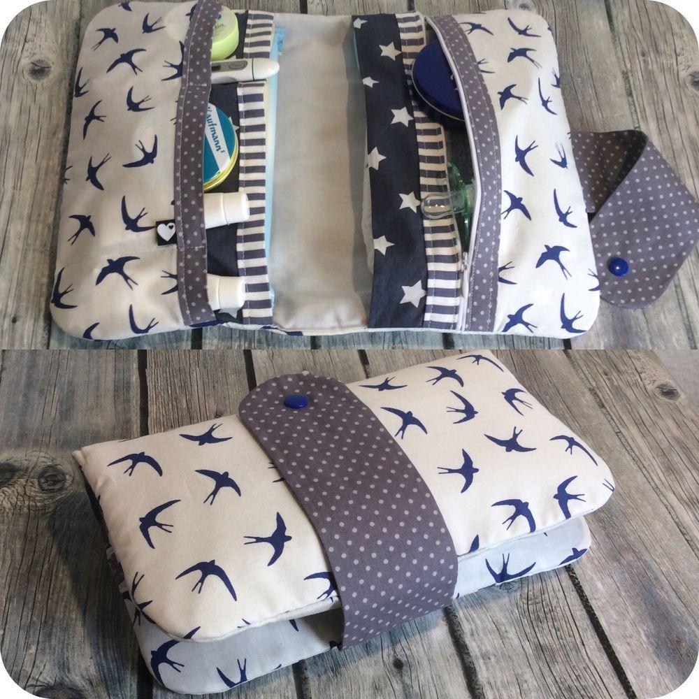 windeltasche xxl reissverschluss schwalben wickeltasche unikat geschenk baby in baby pflege. Black Bedroom Furniture Sets. Home Design Ideas