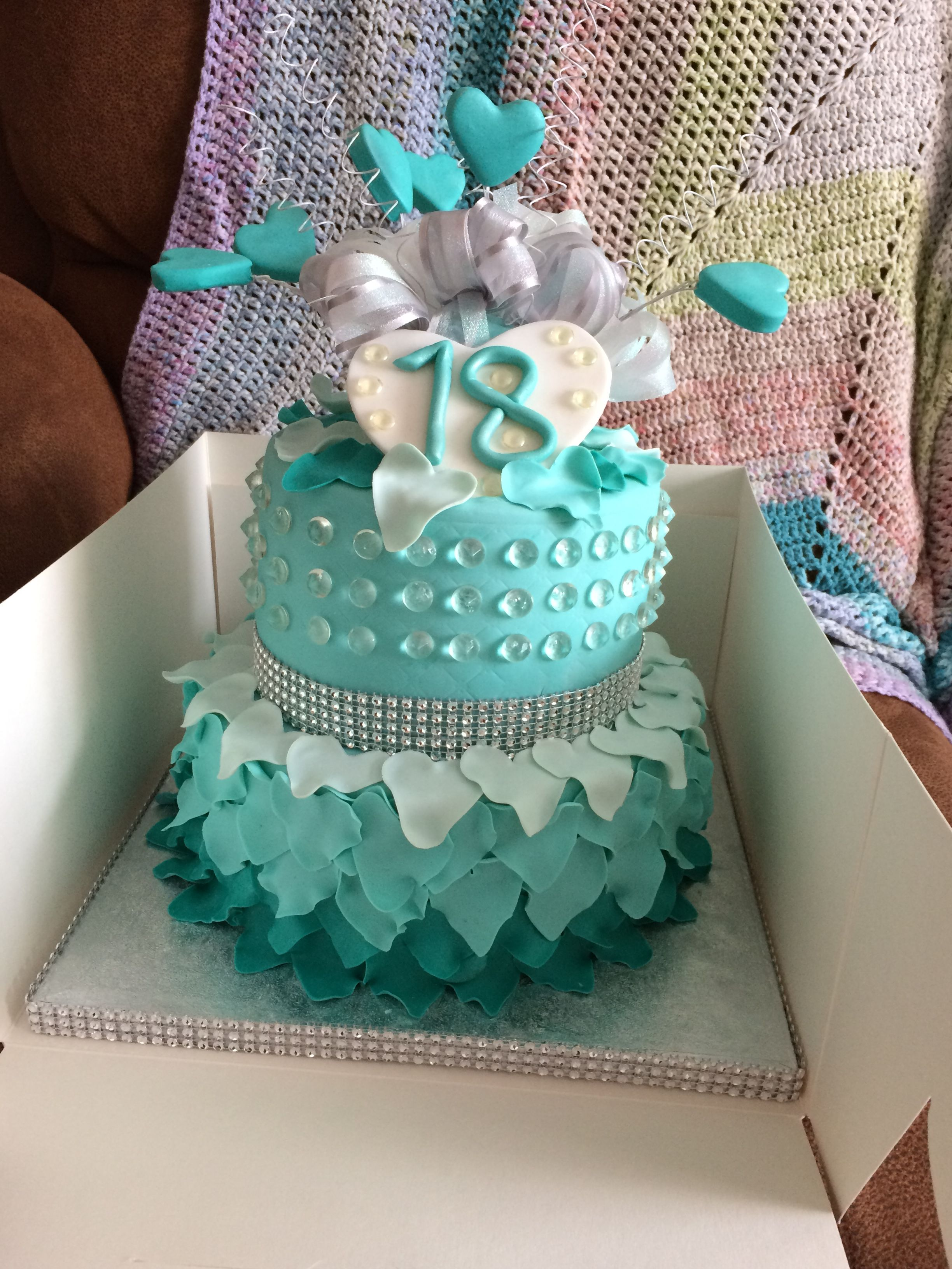 2nd teal 18th birthday cake Wedding anniversary cakes